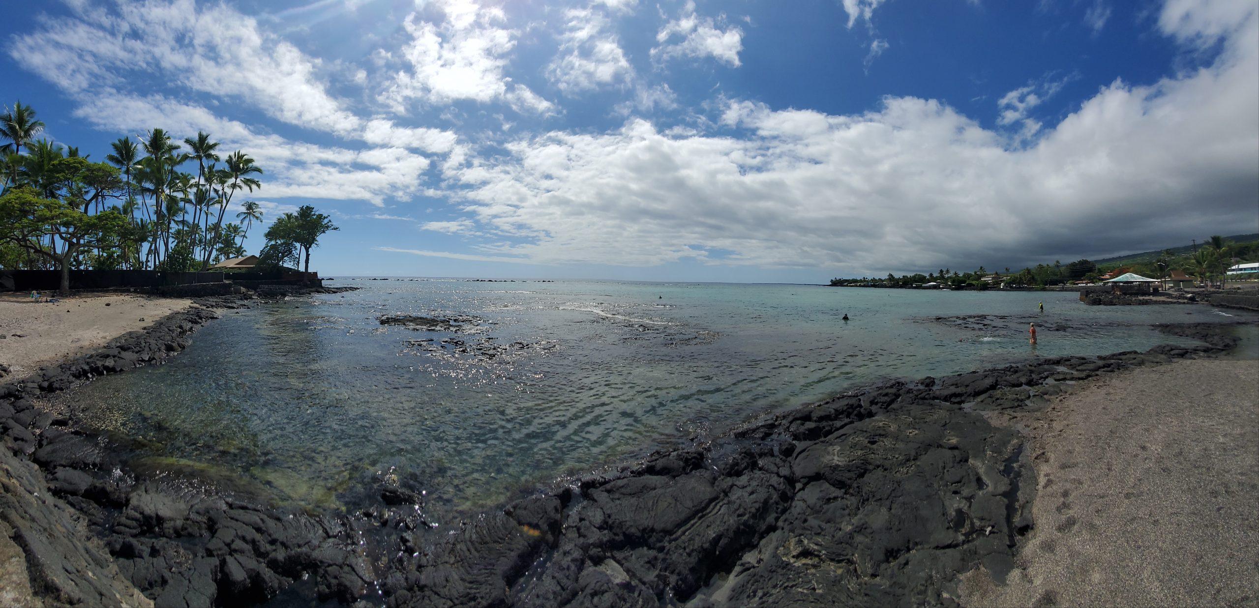 Landscape photo of Kahaluu Beach in Hawaii