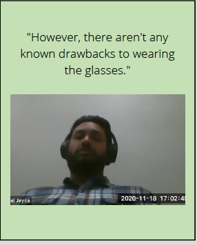 Expert says: However, there aren't any known drawbacks to wearing the glasses.